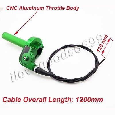 CNC Aluminum Twist Throttle Cable For Kawasaki KX125 KX250 KLX110 Pit Dirt Bike