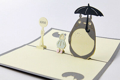 3D My Neighbour Totoro Greeting Birthday Cards Pop Up Gift Card for All Occasion
