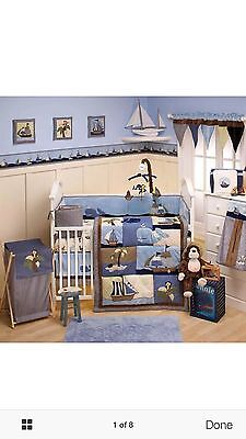 Great Condition Mojo Ahoy Mate Crib Infant Baby Boy Bedding Set 21 Piece