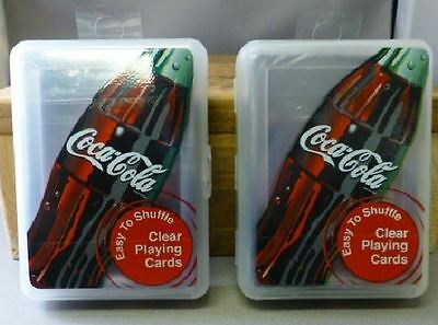 Coca-Cola Clear Bicycle Playing Cards Transparent Waterproof Poker 2 Decks