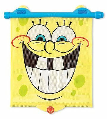 Munchkin SpongeBob White Hot Safety Sunblock Retractable Car Shade, Yellow