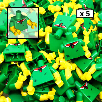 LEGO 5 x Pizza Delivery Torso Green Torso Polo Shirt City For Minifigure