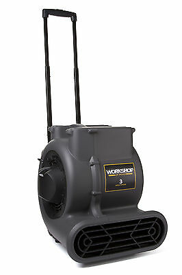 WORKSHOP Wet Dry Vacs WS1625AM Air Mover Blower Carpet Dryer Fan w Handle Wheels