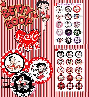 Betty Boop America's Pin Up Girl Old Hollywood Sassy Girl 30 Bottle cap images