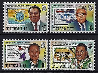 1998 TUVALU 20th ANNIVERSARY OF INDEPENDENCE SET OF 4 FINE MINT MNH/MUH
