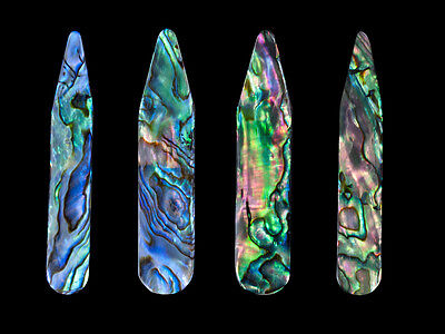 Collar Stay - Genuine Green Abalone - Size 70 x 10 x 2-3 mm ( 6 pcs )