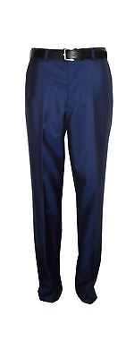 Voeut Mens formal Slim Fit Tonic Blue Suit Trouser (Ford) in Size 34 to 46,S/R/L
