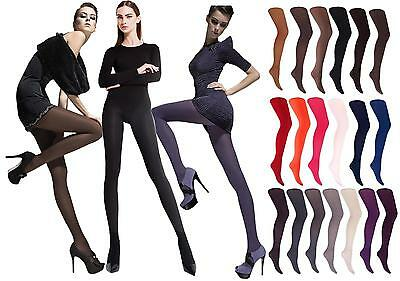 100 Den or 40 Den Microfibre Winter Tights by Fiore Various Colours Size S - XL