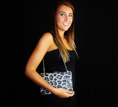 NEW Kate Spade NY Photo Leopard Crystal Court Emanuelle Clutch BOOK NWOT $245