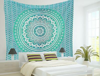 Indian Mandala Tapestry Hippie Wall Hanging Ombre Ethnic Beach Blanket Bedspread