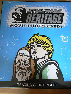 Topps Star Wars Complete Heritage Trading Cards Set With Binder + Etched Set