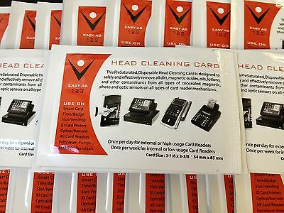 (Pack of 500) CR80 Card Reader Cleaning Cards