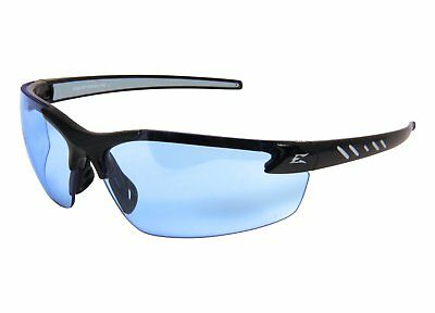 EDGE EYEWEAR - DZ113-G2 Zorge Gloss Black Safety Glasses w/ Blue Lens