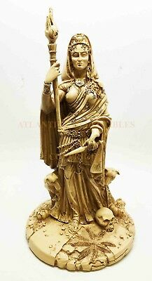 Greek Protective Goddess Hecate with Dogs Witchcraft Figurine Statue Collectible