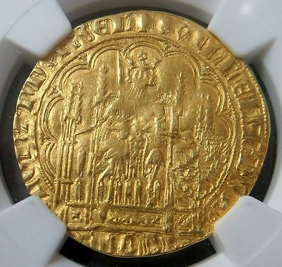 "1404 -1417 (ND) GOLD NETHERLAND 1 Ecu d'or NGC EXTRA FINE DETAILS ""PLEASE READ*"""