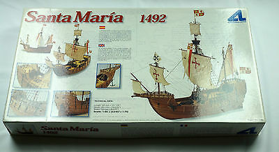 Artesania Latina Santa Maria 1492 1/65 Scale Wood Model Ship Kit Vintage AL22411