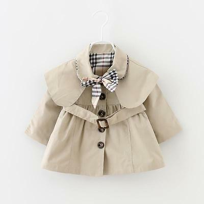 Baby Girl's Stunning Camel Trench Coat with Belt/Bow/ONLY 6-12 MTHS LEFT!