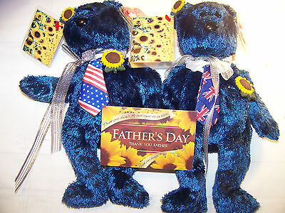 """Chou Store """"Father's Day 2012"""" USA/UK Ty 'Pops""""  2 Bear Set, Thank You, Dad"""