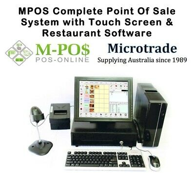 Complete Point of Sale System, POS Hospitality Software & Win10. Touch Screen.