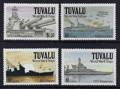 1991 Tuvalu World War Ii Ships Set Of 4 Fine Mint Mnh/muh