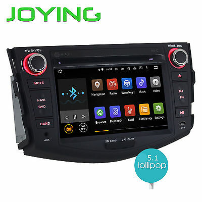 Quad Core 7'' 2Din Android 5.1 Car Headunit DVD GPS Airplay Navi For Toyota RAV4
