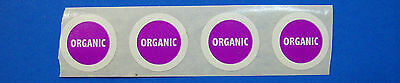 "Printed Food Labels 1,000 Round 3/4"" Circle 1-Color FDA Approved Fruit Vegetable"