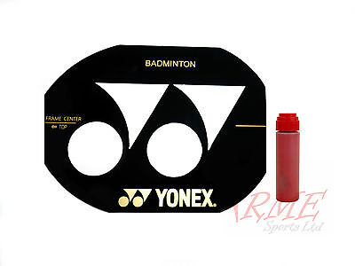 Yonex Badminton Racket Stencil and Red Stencil Ink
