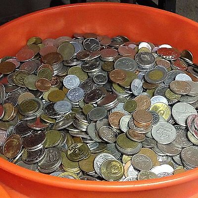 10 lbs mixed FOREIGN COINS, Bulk World Coins by the Pound! Many countries!