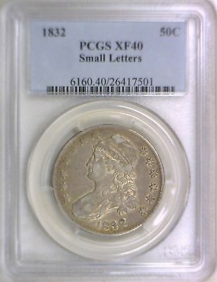 1832 Small Letters Bust Half Dollar PCGS XF-40