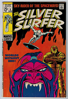 Silver Surfer #6 5.5 Off-White Pages Silver Age