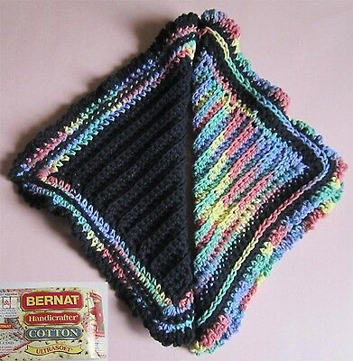 Pair of Colorful Hostess 100% Cotton Dishcloths in Reverse Colors