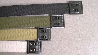 Military Style Web Belt with black open face buckle - Various Colors 41190b5bb73