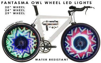 "Fantasma OWL Spoke Wheel LED Light, 8 Images, 20"" Wheel, One Wheel (BK-2071)"