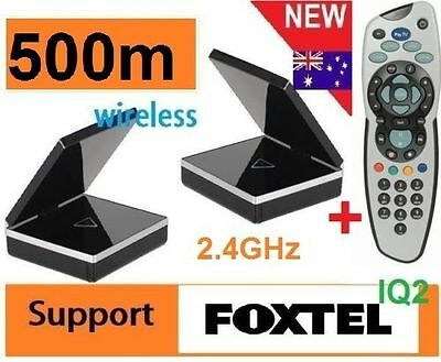 New* 2.4GHz Wireless AV Sender Transmitter IR remote For FOXTEL IQ2 + Remote