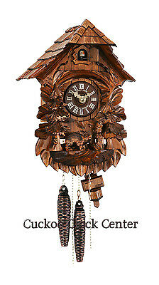 Cuckoo Clock 1-day-movement Chalet-Style 31cm Black Forest By Hubert Herr