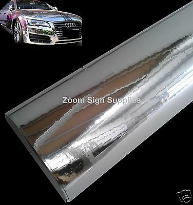 Mirror Chrome Wrap Wrapping Vinyl Air Drain Sticky Back Plastic Choose Size