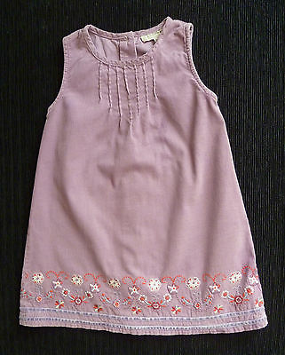 Baby clothes GIRL 18-24m Little Rocha mauve corded cotton embroidered dress