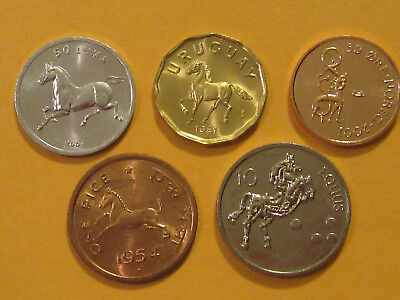 Horse coin set 4 coins  uncirculated India Norway animal coin nice starter set