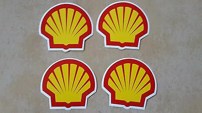 4x SHELL Gasoline gas oil pump vinyl sticker decal 3""