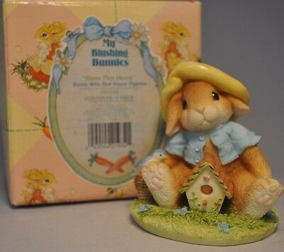 My Blushing Bunnies - Bless This Home - 157775 - Bunny With Bird House