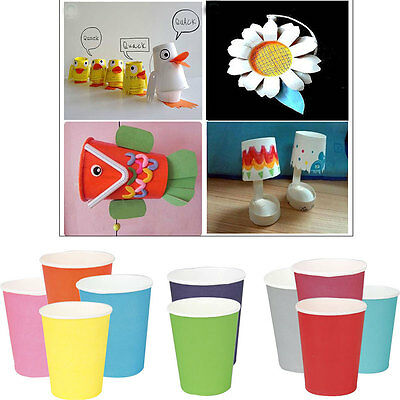 50pcs Disposable Paper Cups Coffee Cupcake Wedding Party Food Drinking Tableware