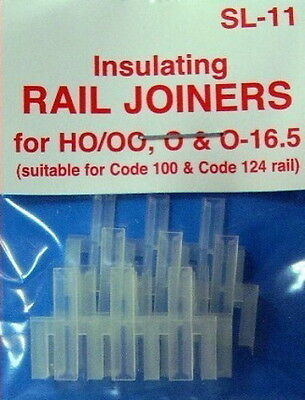 Peco Code 100 Oo/ho Sl11 Insulating Rail Joiners X2 Packs 12 Joiners Pesl11