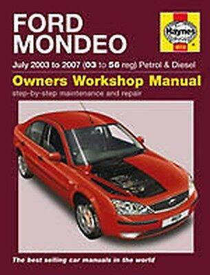 MANUALE HAYNES Ford Mondeo Benzina E Diesel Luglio 03-07 Nuovo Hatchback 4619