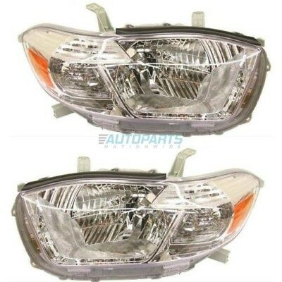 New 2008-10 Fits Toyota Highlander Left & Right Head Light To2503176, To2502176