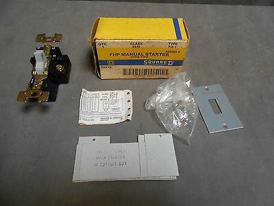 UNUSED Square D Class 2510 Type FO-1 FHP Manual Starter Switch Series A