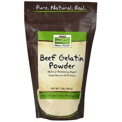 NOW Food Beef Gelatin Powder - 1 lb Fresh, Free Shipping, Made in USA