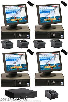 4 Station Restaurant / Bar Touch POS System & Software