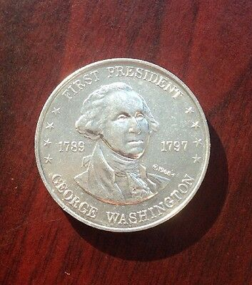 George Washington 1st President of the United States Vintage Medal Coin Token