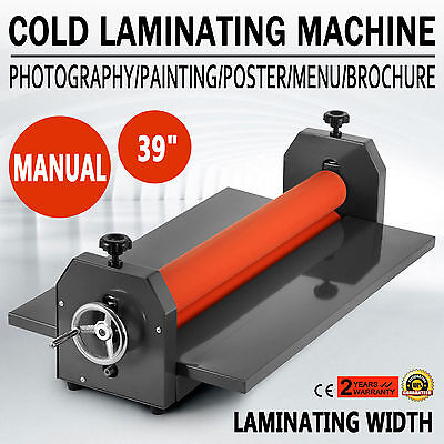 "39"" 1000Mm Cold Laminator Laminating Machine Wide Format Photo 4 Roller"