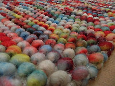 Sumi Chunky Bobble Rugs 100% WOOL Colourful & Vibrant 3 SIZES